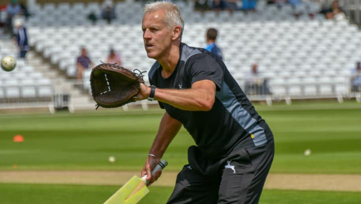Peter Moores warm-up
