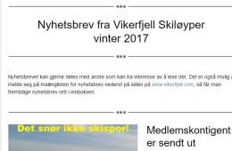 Vikerfjell skiløyper – Vinter 2017
