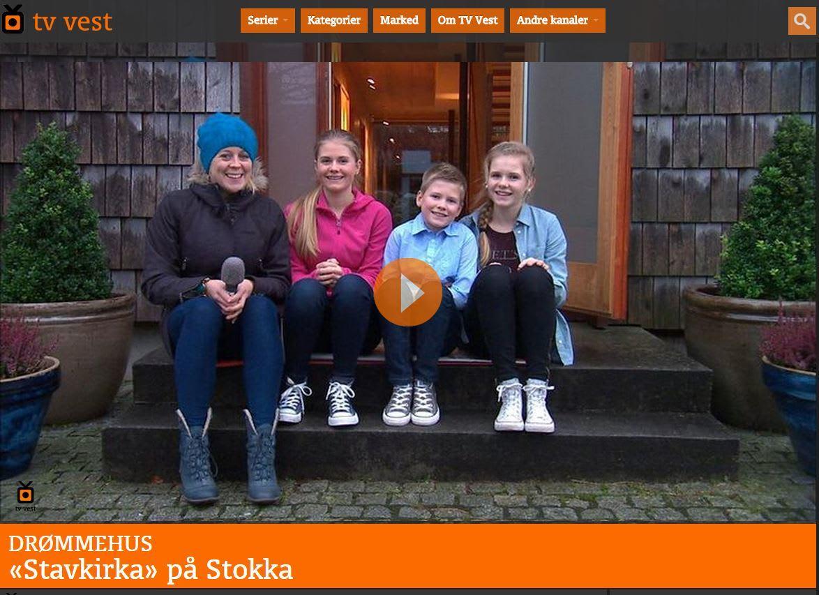 """TV serie – Drømmehus – """"Stavkirka"""" på Stokka"""