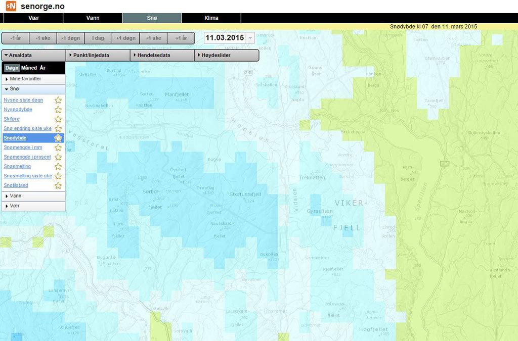 snødybde kart Snødybde ⋆ Vikerfjell.com snødybde kart