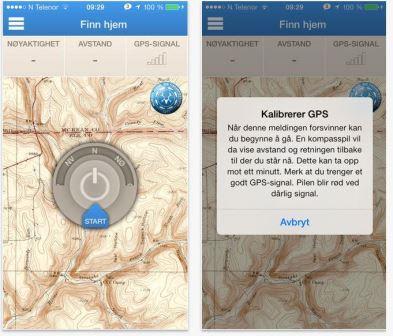 GPS App til smarttelefon: NJFF Rett Hjem