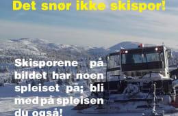 Det snør ikke skispor
