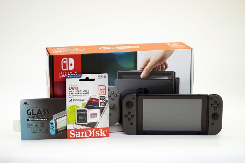 Nintendo Switch под прошивку / защитное стекло / карта памяти на 400Gb