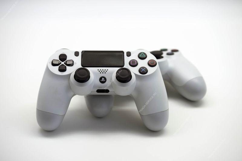 Геймпад Dualshock 4 (rev. 2, оригинал) - Glacier White белый