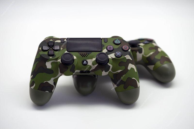 Геймпад Dualshock 4 (rev. 2, оригинал) - Camouflage зеленый