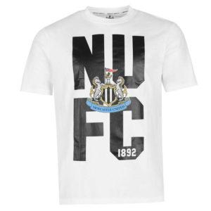 Newcastle United Crest T Shirt Pánské