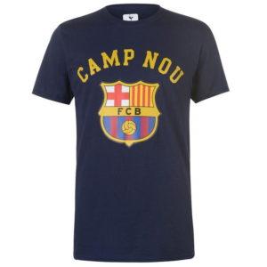 Barcelona Crest T Shirt Pánské