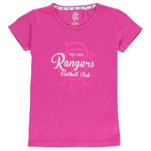 Rangers Crest tisk T Shirt Junior dívky