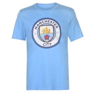 Manchester City Crest Tričko 2018 2019 Pánské
