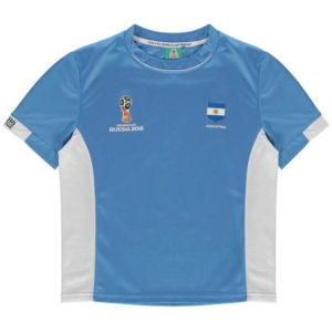 Světový pohár Rusko 2018 Argentina Poly T Shirt Junior