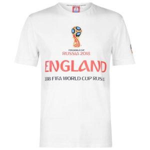 Světový pohár Rusko 2018 England Graphic T Shirt Pánské