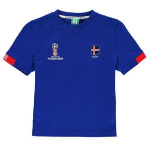 Světový pohár Rusko 2018 Island Core T Shirt Junior