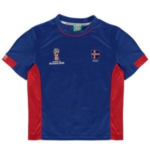 Světový pohár Rusko 2018 Island Poly T Shirt Kojenci
