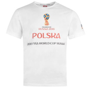 Světový pohár Rusko 2018 Polsko Graphic T Shirt Pánské