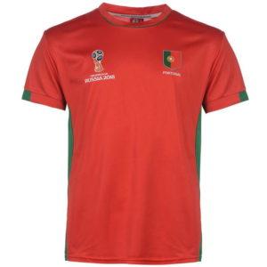 Světový pohár Rusko 2018 Portugal Poly T Shirt Pánské