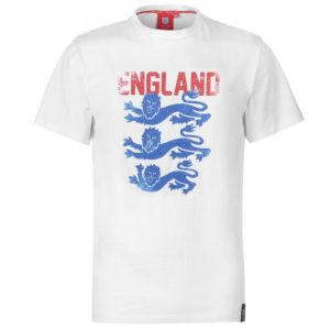Anglie Lions Faded T Shirt Pánské