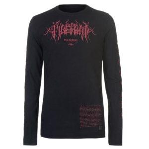 Blackseal Tričko s dlouhým rukávem s vlkodlakem