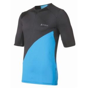 Krátký rukáv Zip T Shirt Mens