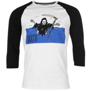Žádné Print Raglan T Shirt Pánské
