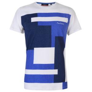 Barevný blok vzor T Shirt Pánské