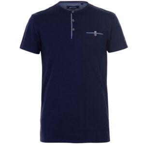 Chambray Grandad T Shirt pánské
