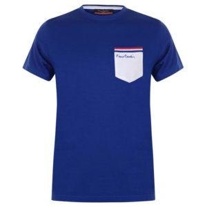 Jednodílné kontrastní kapesní tričko pánské