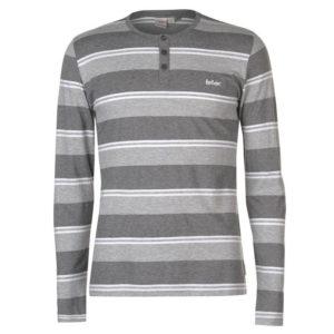Stripe Grandad T Shirt Pánské