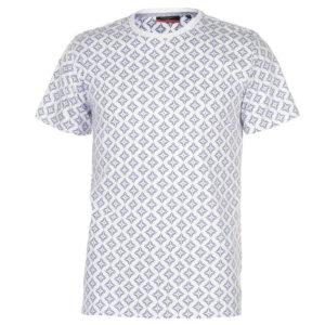 Geometric Printed T Shirt Pánské
