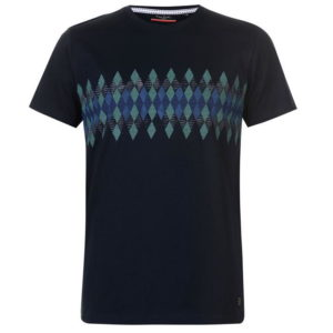 Tričko Argyle Printed T Shirt Mens