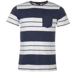 Pravidelné Fit Block Pruhované tričko Pánské