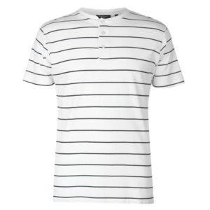 Stripe Henley tričko pánské