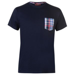 Single Checked Pocket T Shirt pánské