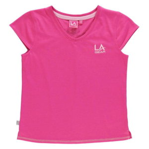 V Neck T Shirt Junior Dívky