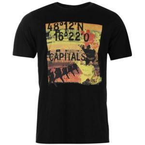 Hlavní kapsy Big Print T Shirt pánské