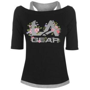 Mock Layer T Shirt dámské