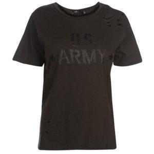 Army Ripped T Shirt dámské
