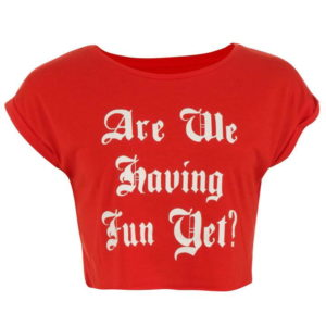 Edice Crop Slogan T Shirt