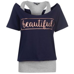 Dvojvrstvá trička dámská