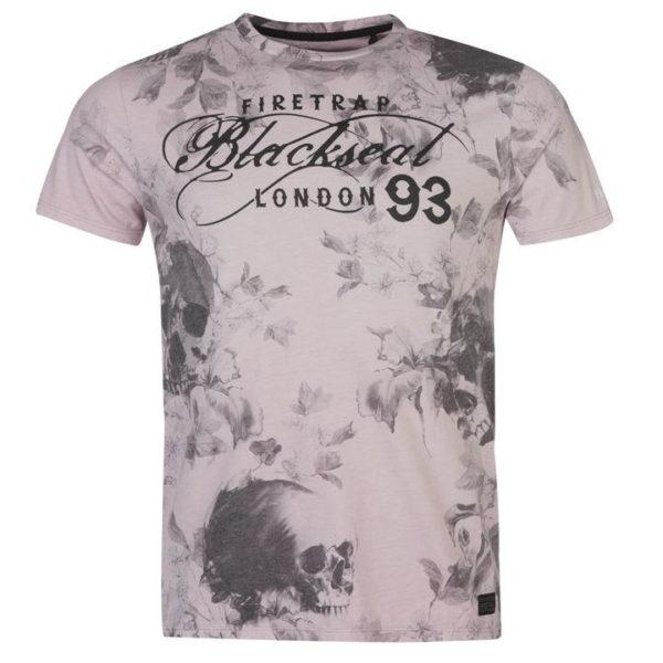 Tričko Blackseal Floral Skull T