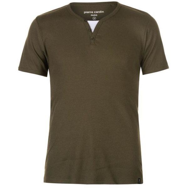 Žebrovaný Mock T Shirt pánské
