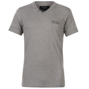 Strižní V Neck T Shirt Pánské