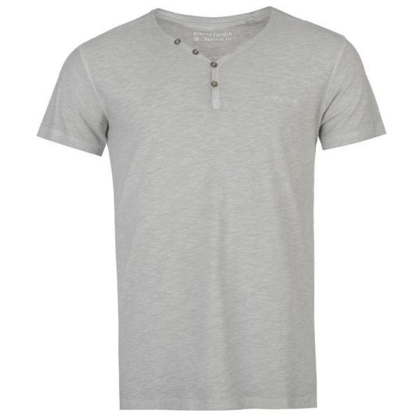 Henley krátký rukáv tričko pánské