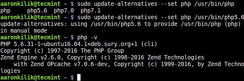 Set PHP 5.6 Version in Ubuntu