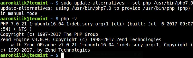 Set PHP 7.0 Version in Ubuntu