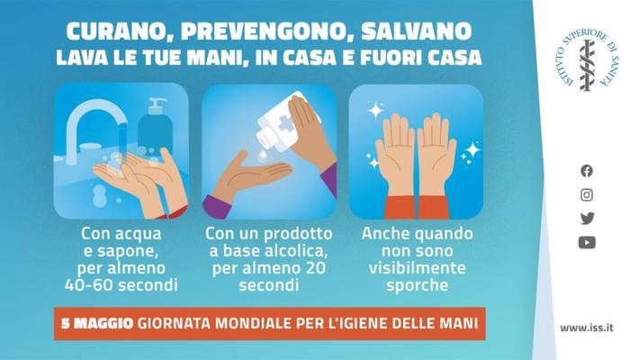 Covid: Iss, igiene delle mani protegge se stessi e gli altri