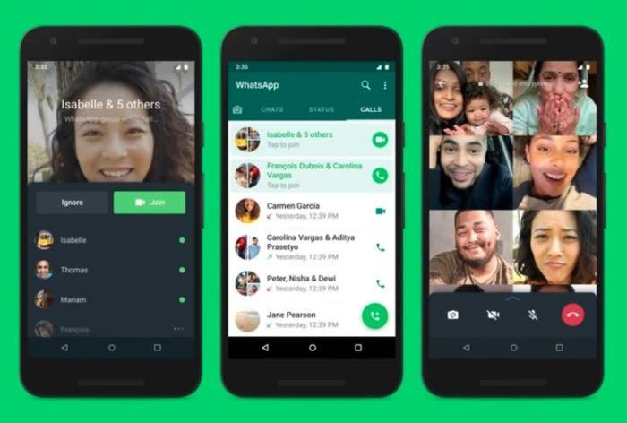 WhatsApp: si potrà entrare nelle chiamate già iniziate