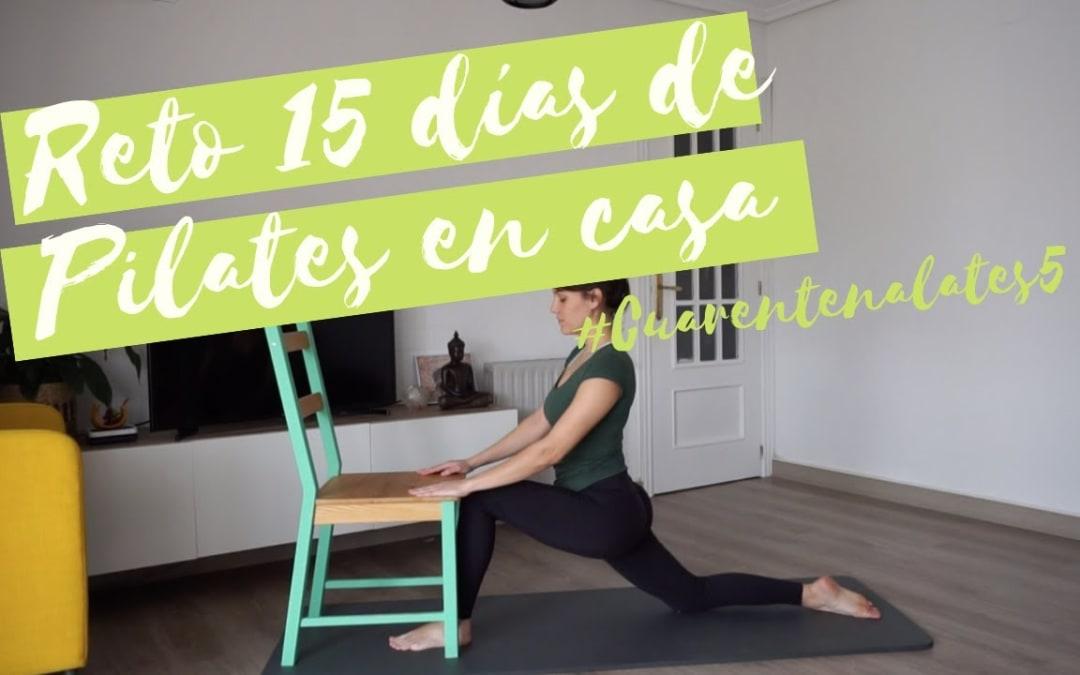 15 días de Pilates en casa #Cuarentenalates5