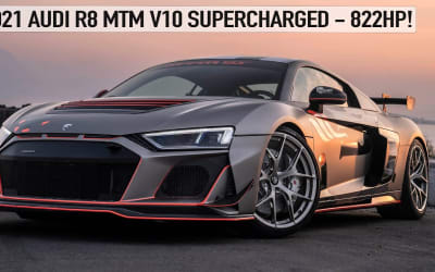 BEAST! 2021 822HP AUDI R8 MTM V10 SUPERCHARGED GT STREET – CRAZY R8 WITH INSANE SOUNDS!