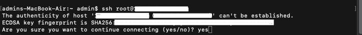 Fix SSH host login waring