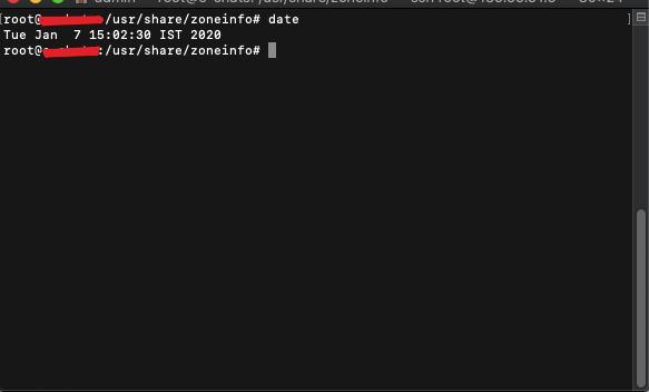Check default timezone of linux server